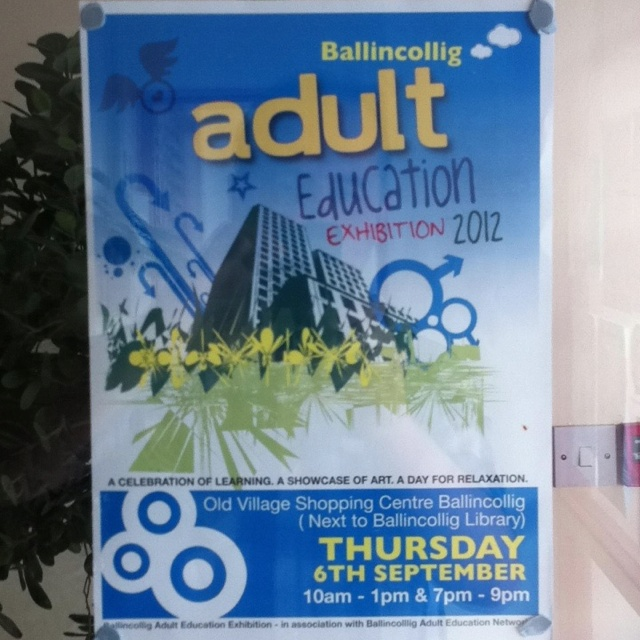 Adult Education exhibition