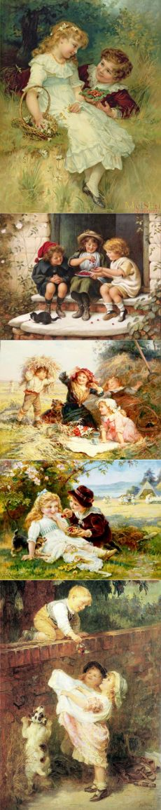 Дети в живописи Фредерика Моргана (1856-1927)
