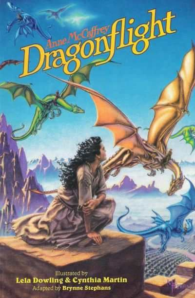 Pern XIX: Dragonflight by Anne McCaffrey (1968) | Ninth Pass | To the nobles who live in Ruatha Hold, she is nothing but a ragged kitchen girl, but the time has come for Lessa to  take back her stolen birthright....until she meets a queen dragon