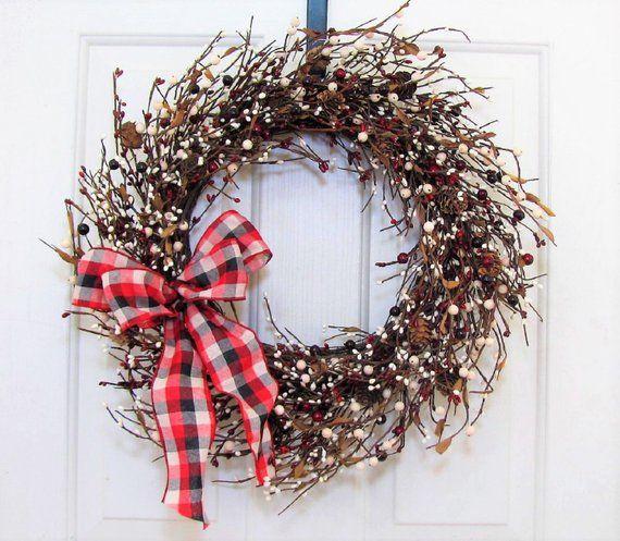 Christmas Berry Storm Door Wreath