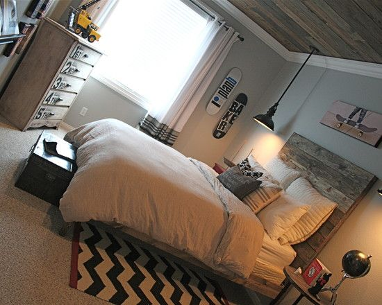 1000 images about boys room ideas on pinterest pottery barn kids baseball scoreboard and - Boy teens living room ...