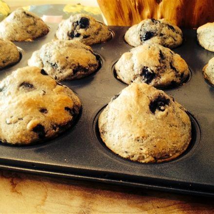 Muffins au son d'avoine, bleuets et chocolat noir - Nutritionnistes NutriSimple