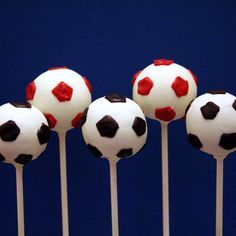 Football cake pops - For all your cake pop decorating supplies, please visit http://www.craftcompany.co.uk/cake-pops.html