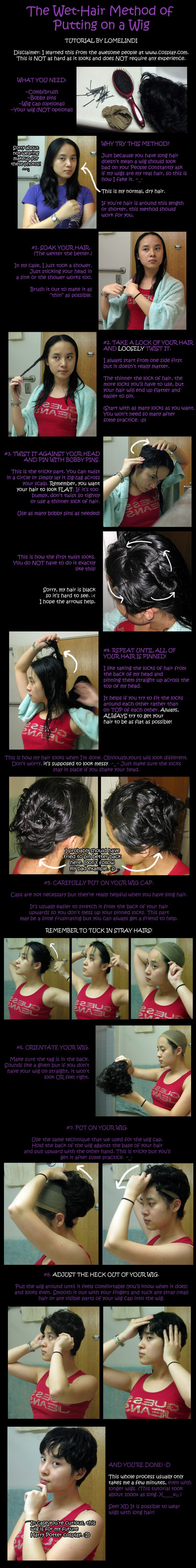 How To Put On A Wig Tutorial by Lomelindi88 on deviantART