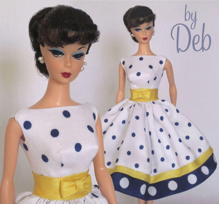 Loves Dots- Vintage Barbie Doll Dress Reproduction Repro Barbie Clothes Fashions