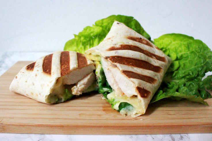 Gegrilde wrap met kip en avocado - gezond, snel & makkelijk / Kokerellen