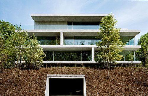 Christian Kerez - Apartment building, Zürich 2003. Via.