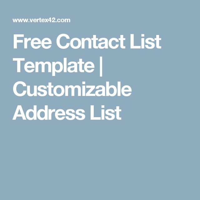 43 best Executive Assistant\/Project Coordinator images on - free contact list template