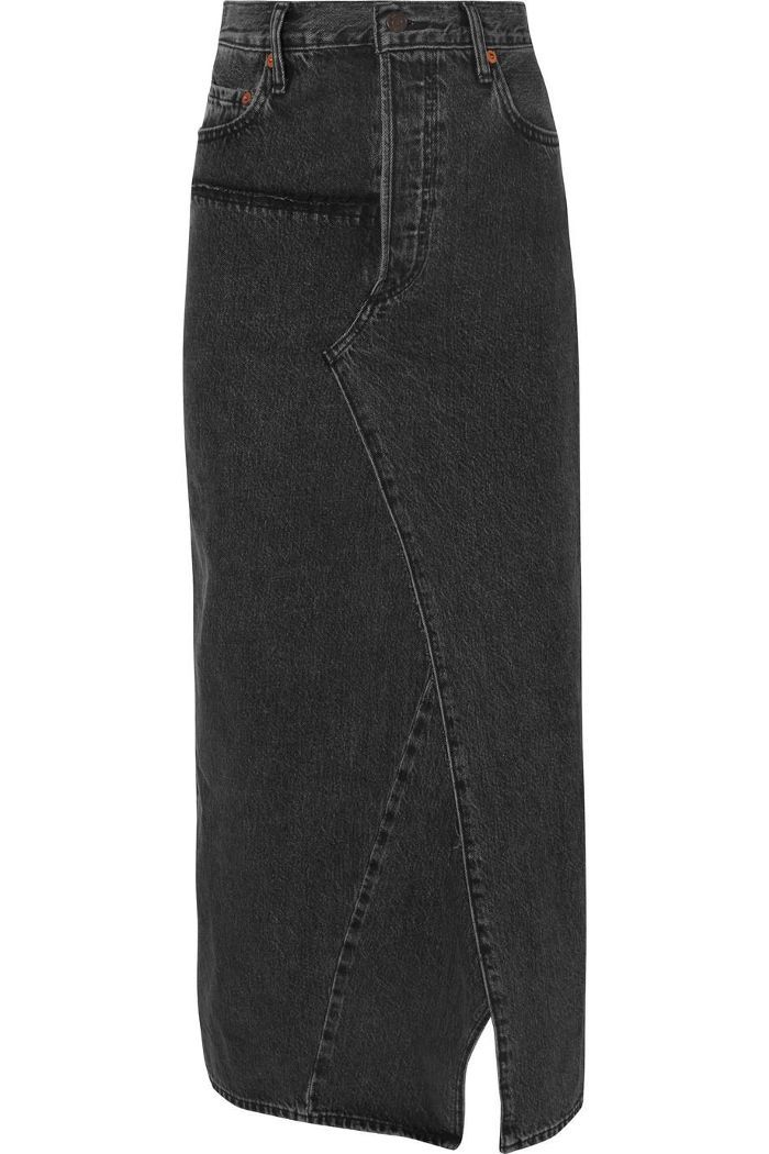 4d01a66c1 Vetements Distressed Denim Maxi Skirt. Easy Winter Jean Skirt Outfits to Wear  All Season Long ...