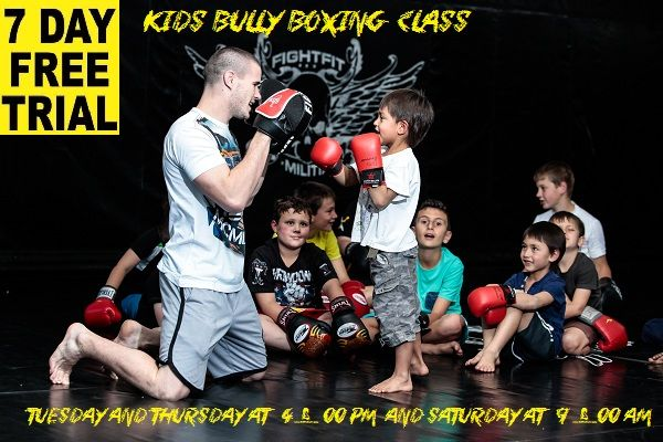 Kids Bully Boxing Class , classes are not to teach children to fight but to stand up to the bully and be able to defend them selves against a pysical attack contact us via the web site www.fightfitmilitia.co.za or raymond@ironathletics.co.za or 0832336878