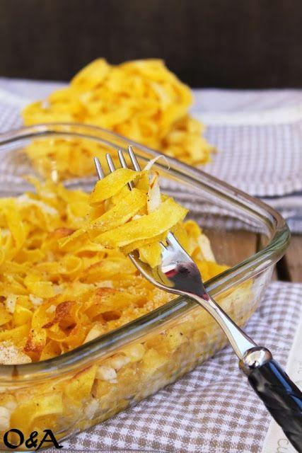 Olio e Aceto: Ricetta pasticcio di fettuccine ai formaggi