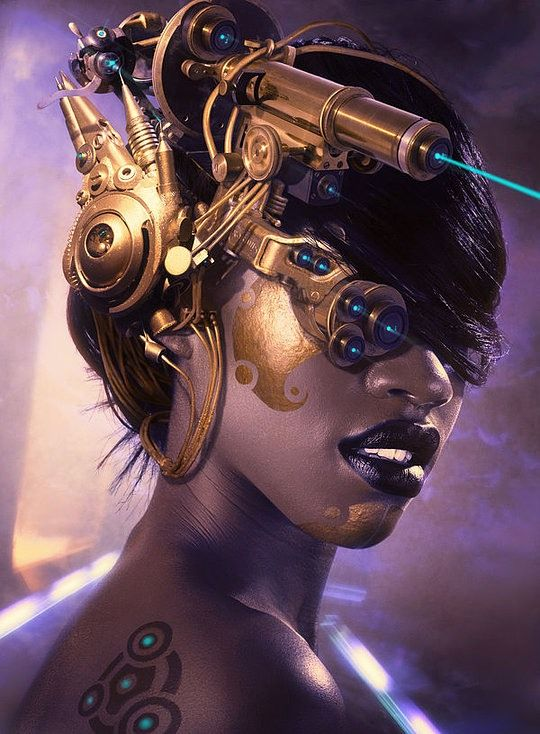 The interesting thing about cyberpunk is that it sometimes looks a whole lot like steampunk. Context is everything, I guess.