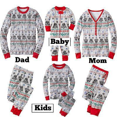Family Matching Outfits Clothes Kids Adult Family Pajamas Set Sleepwear Darth Vader Star Wars