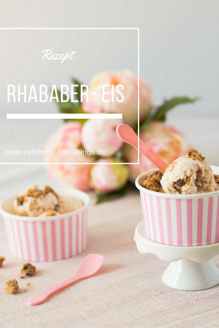 Rhababer-Eis mit Keksen