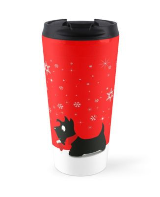 Holiday Scottie Dog • Also buy this artwork on home decor, apparel, stickers, and more.