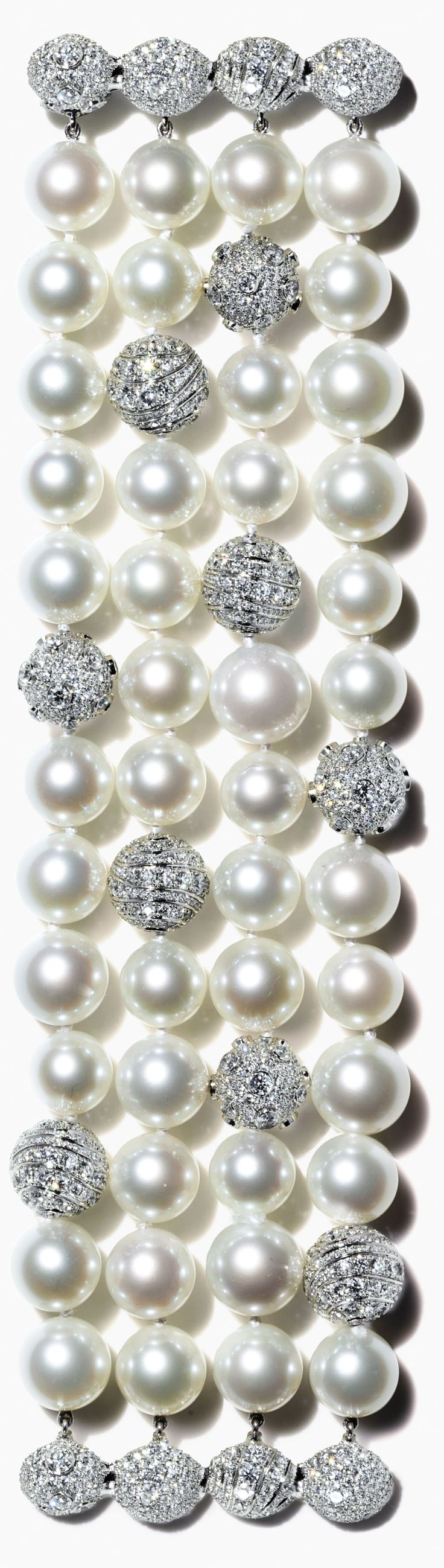 These gems of the South Seas drape the wrist with elegant ease and reflect Tiffany's reputation for the finest pearls.