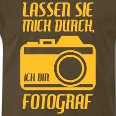 Fotograf Fotoapparat Kamera Bild Paparazzi T-Shirts