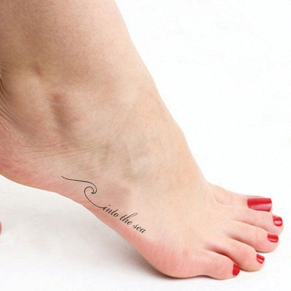 """Nothing is more calming than listening to ocean waves. Chill out and relax with this dainty tattoo! Sheet Size: .5"""" x 2.5"""" - Lasts 5-7 days even with swimming and bathing! - Easy to put on and easy to"""