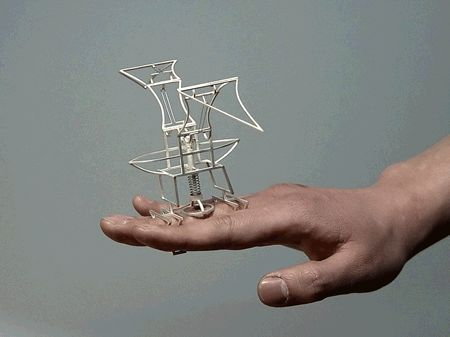 small kinetic sculptures that turn your ring finger into your wing finger