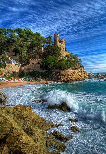 Costa Brava, Spain: Lloret De, The Mars, De Mars, Beautiful Places, Costabrava, Castle, Salvador Dali, Costa Brava, Spain Travel