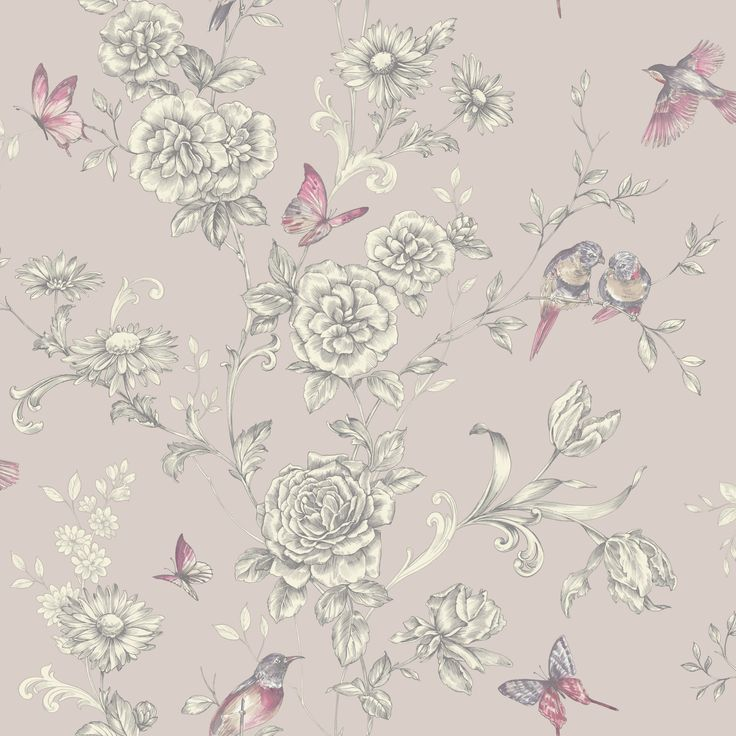 Colours evelyn grey floral wallpaper smooth colour and for Wallpaper homebase grey