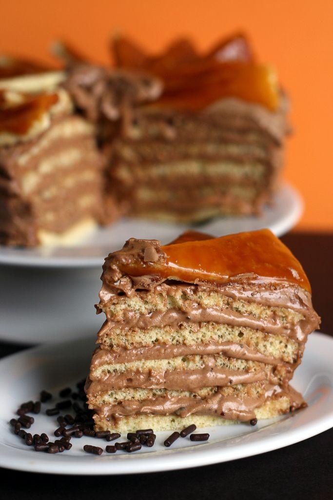 Dobos Torte | Menu : Dessert | Pinterest