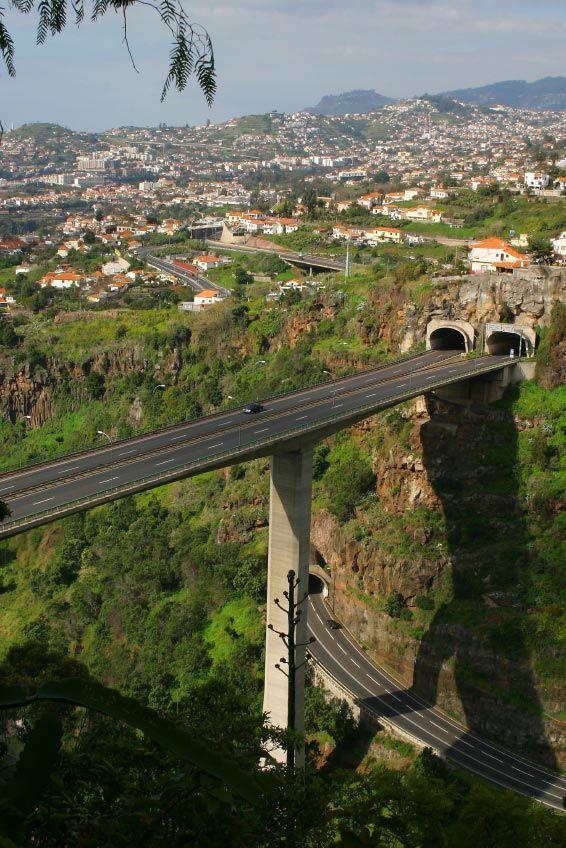 Funchal Highway Bridge, Funchal, Madeira, Portugal