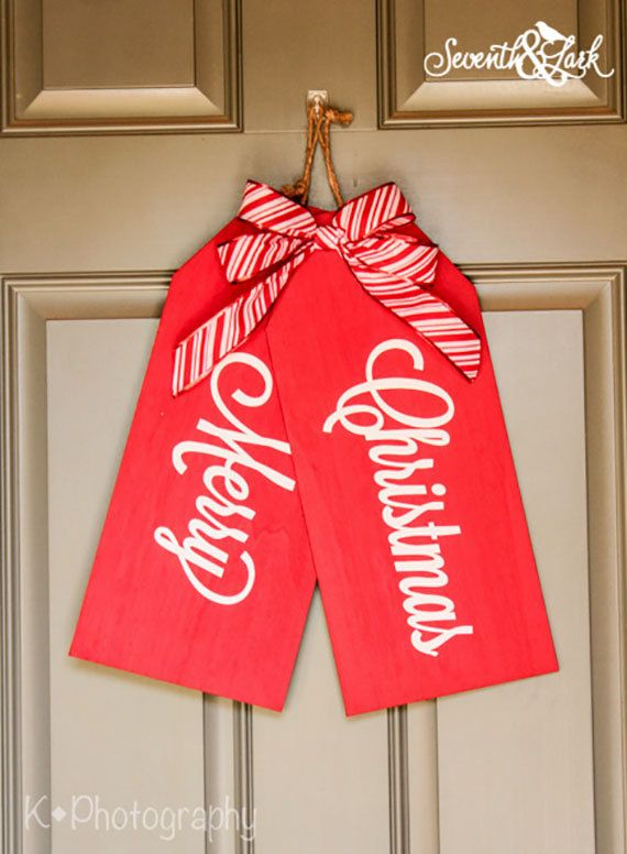 Diy kit create your own christmas decoration front for Design your own front door