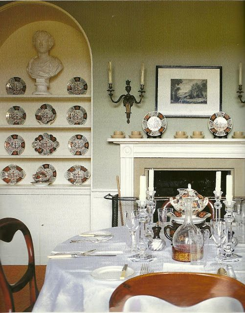 A Georgian Dining Room Mixed With Victorian Chairs ChairsAlcove IdeasGeorgian