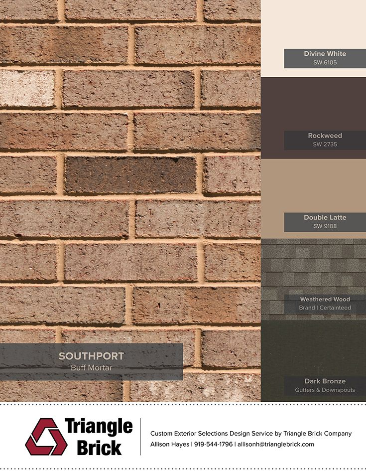 90 best blogs triangle brick company images on pinterest brick companies brick and bricks for Sherwin williams latte exterior paint
