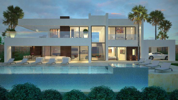 Contemporary Villa In La Cerquilla Marbella Modern Villa Design Architecture House Luxury Homes Dream Houses Contemporary house in la