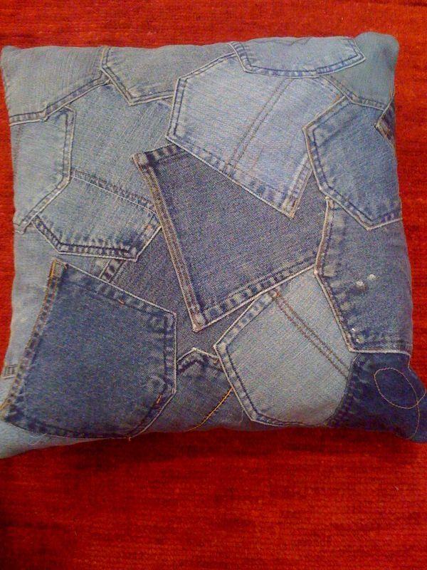 Jean pillow - cute