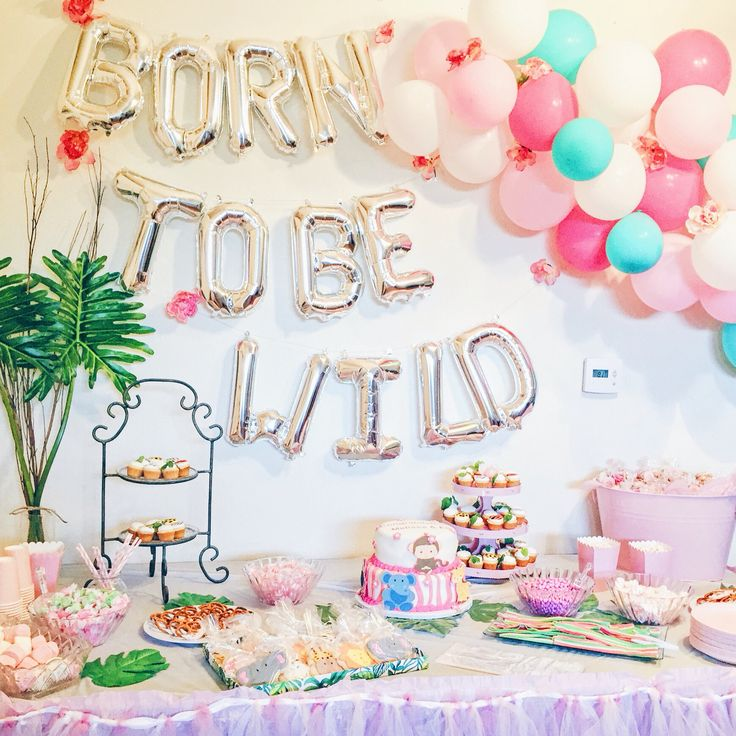 Jungle Theme | Baby Shower | Born To Be Wild | Safari | Zoo Animals |