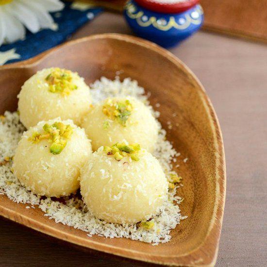 Delicious dessert made using coconut and condensed milk.