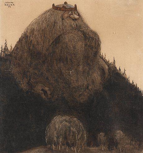 """JOHN BAUER 1882-1918, """"Herr Birre och trollen"""""""