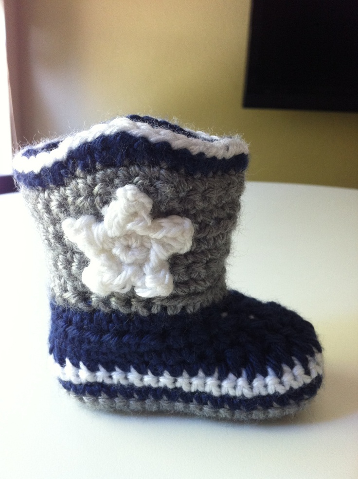 Dallas Cowboys Crochet Baby Hat Pattern : crochet cowboy boots -- these would match Lennys cowboy ...
