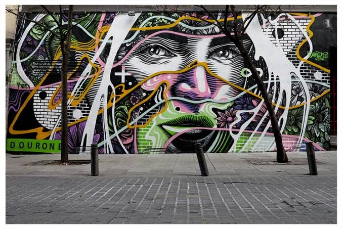 dourone - street art - border line - madrid