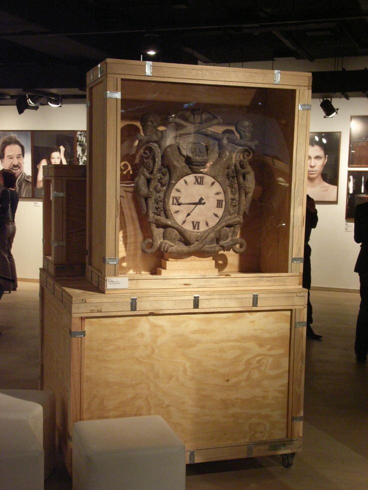 Caja Eco - Reloj. Clock Wood Box.