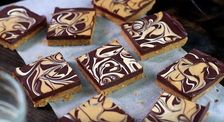 Overheerlijke+no-bake+chocolade-pindakaas+repen+maak+je+gewoon+zelf!