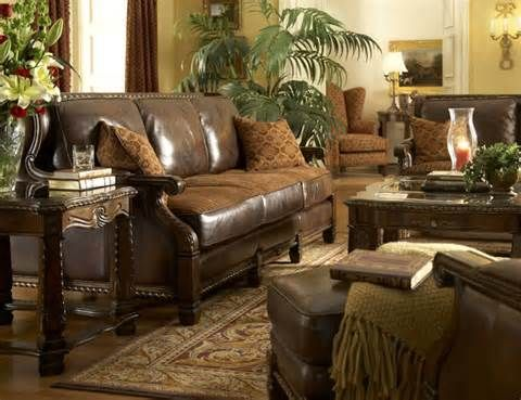 Leather And Fabric Living Room Furniture   Living Room With .