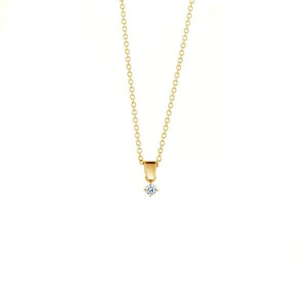 Zawieszka wykonana z 18-karatowego żółtego złota (próba 0,750). W zawieszce został osadzony diament o szlifie brylantowym, wysokiej czystości SI1/G o masie 0,05 ct. Produkt sprzedawany jest bez łańcuszka. Zapraszamy na: www.savicki.pl/kolekcje/the-light-pl