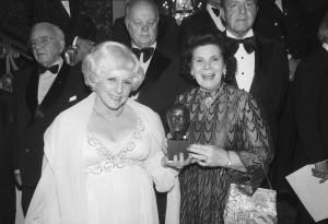 Mary Kay Ash and Mary Crowley Holding Award - Bettmann Archive / Getty Images