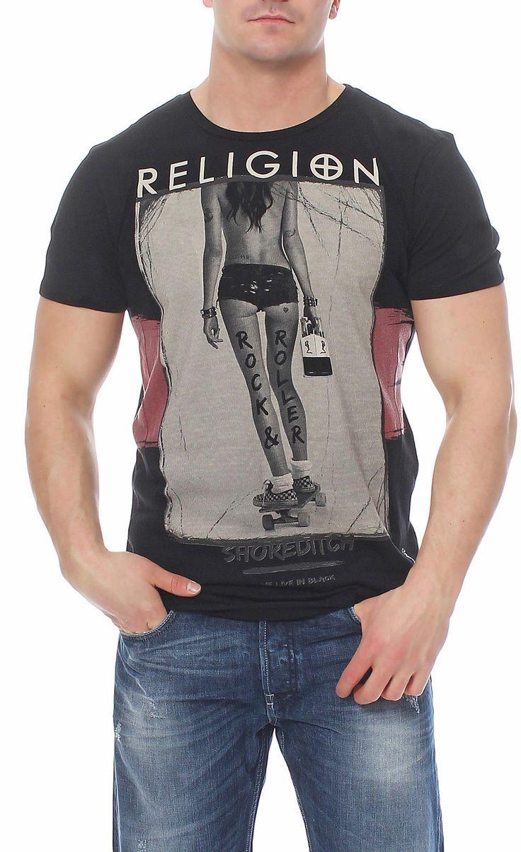 Religion Herren T-Shirt Shirt Kurzarmshirt ROCK AND ROLLER - B2116RRF07 in Vêtements, accessoires, Hommes: vêtements, T-shirts | eBay