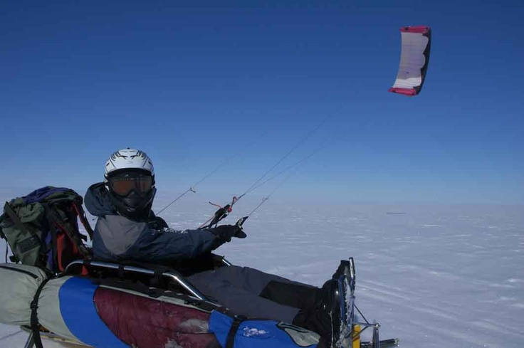 Ben Deacon has long had a dream to travel across Antarctica to the South Pole. Now he's discovered a new way to get there that's easier on the body, the wallet and the environment.