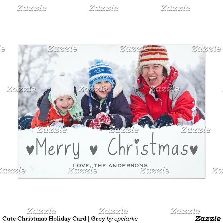 Cute Christmas Holiday Card | Grey