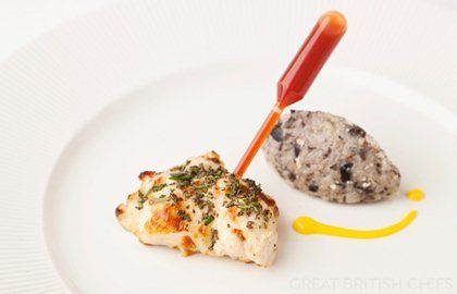 Rosemary chicken tikka, chilli pipette and black olive khichdi - Vineet Bhatia