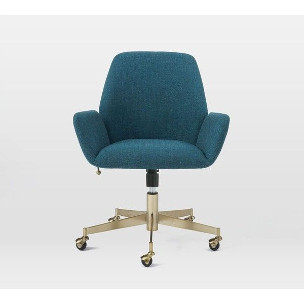 Aluna Upholstered Office Chair (24.455 RUB) ❤ liked on Polyvore featuring home, furniture, chairs, office chairs, upholstered furniture, spinning chair, fabric desk chair, upholstery fabric chair and upholstery furniture