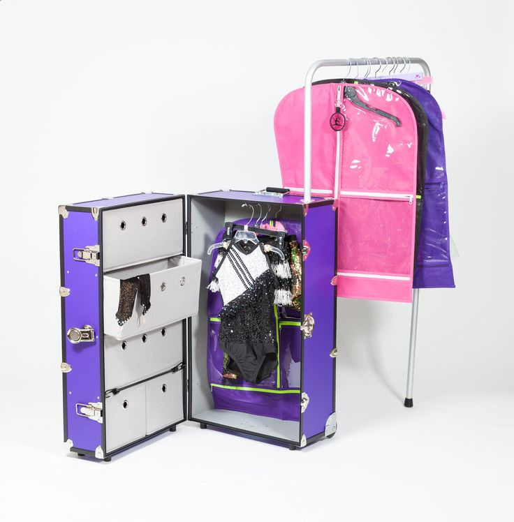 Dance Star. Be a star and travel like one too!  Featuring a 360 degree adjustable position rack, 5 drawers, 13 different colors and so much more.  Visit the website for details and ordering information.  All About Attitude Dancewear
