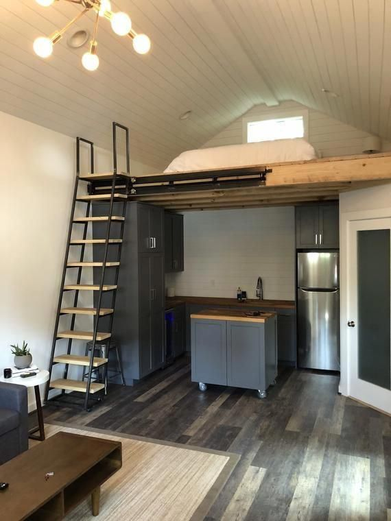 10 Loft Ladder With 12 Foot Slide Left To Right Not In And Out Loftbedroom In 2020 Tiny House Bathroom Tiny Loft Tiny House Cabin
