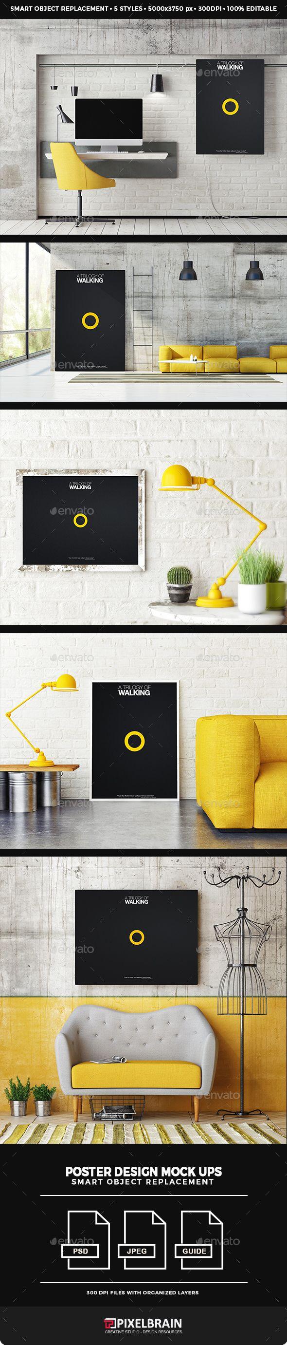 Poster design mockup - Posters Mock Up Design